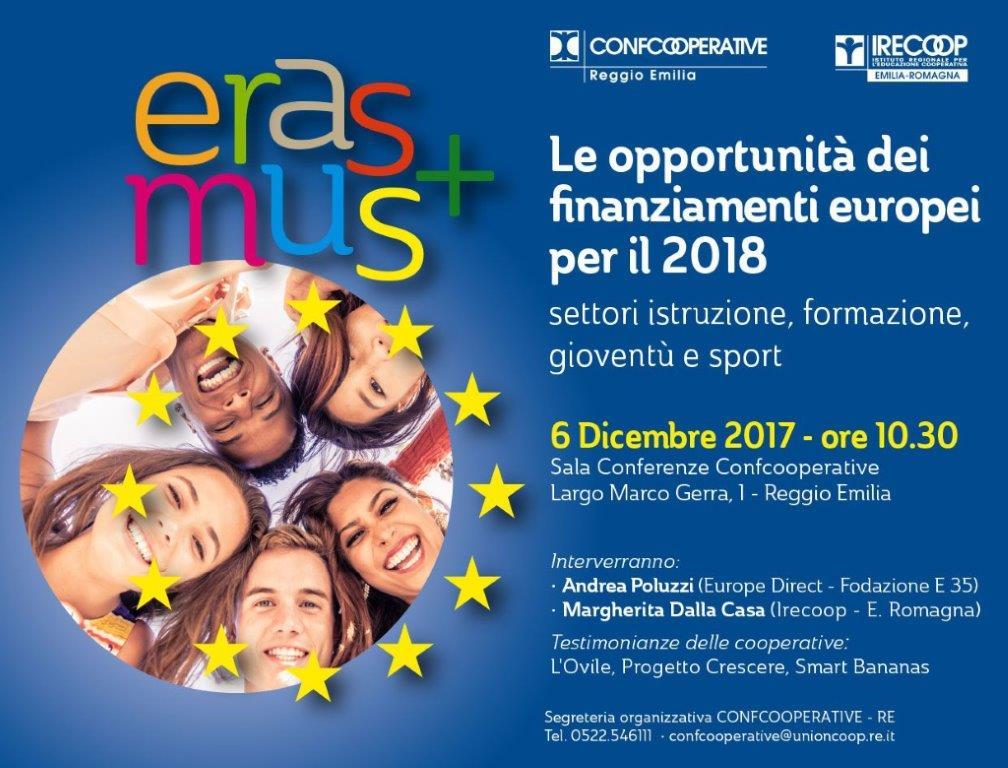 Incontro informativo su Erasmus+ a Reggio Emilia
