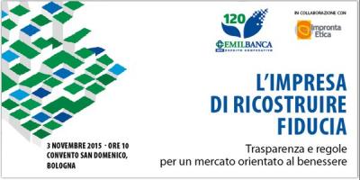 L' Impresa di Ricostruire Fiducia – Convegno 3 Novembre 2015