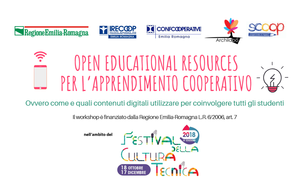 WORKSHOP: OPEN EDUCATION RESOURCES PER L'APPRENDIMENTO COOPERATIVO