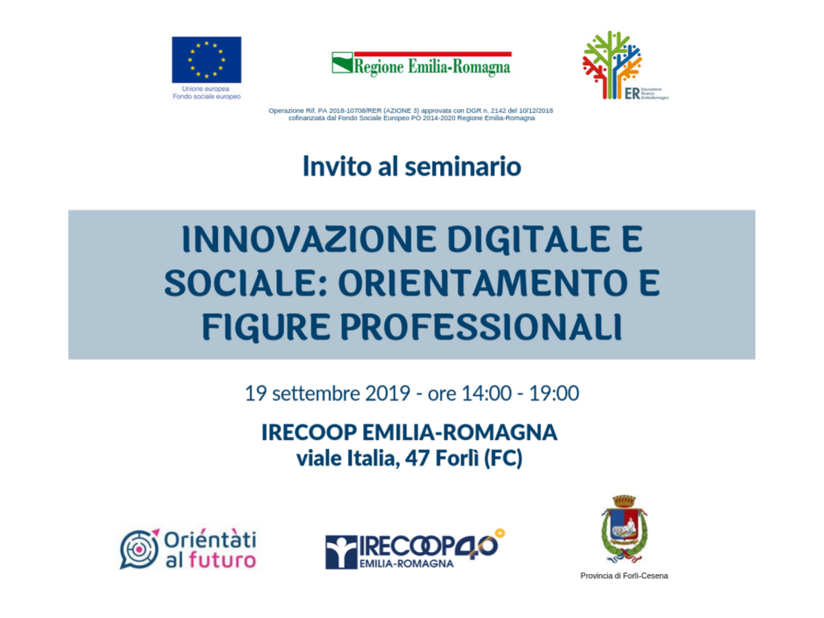 Innovazione digitale e sociale: orientamento e figure professionali – Seminario a Forlì