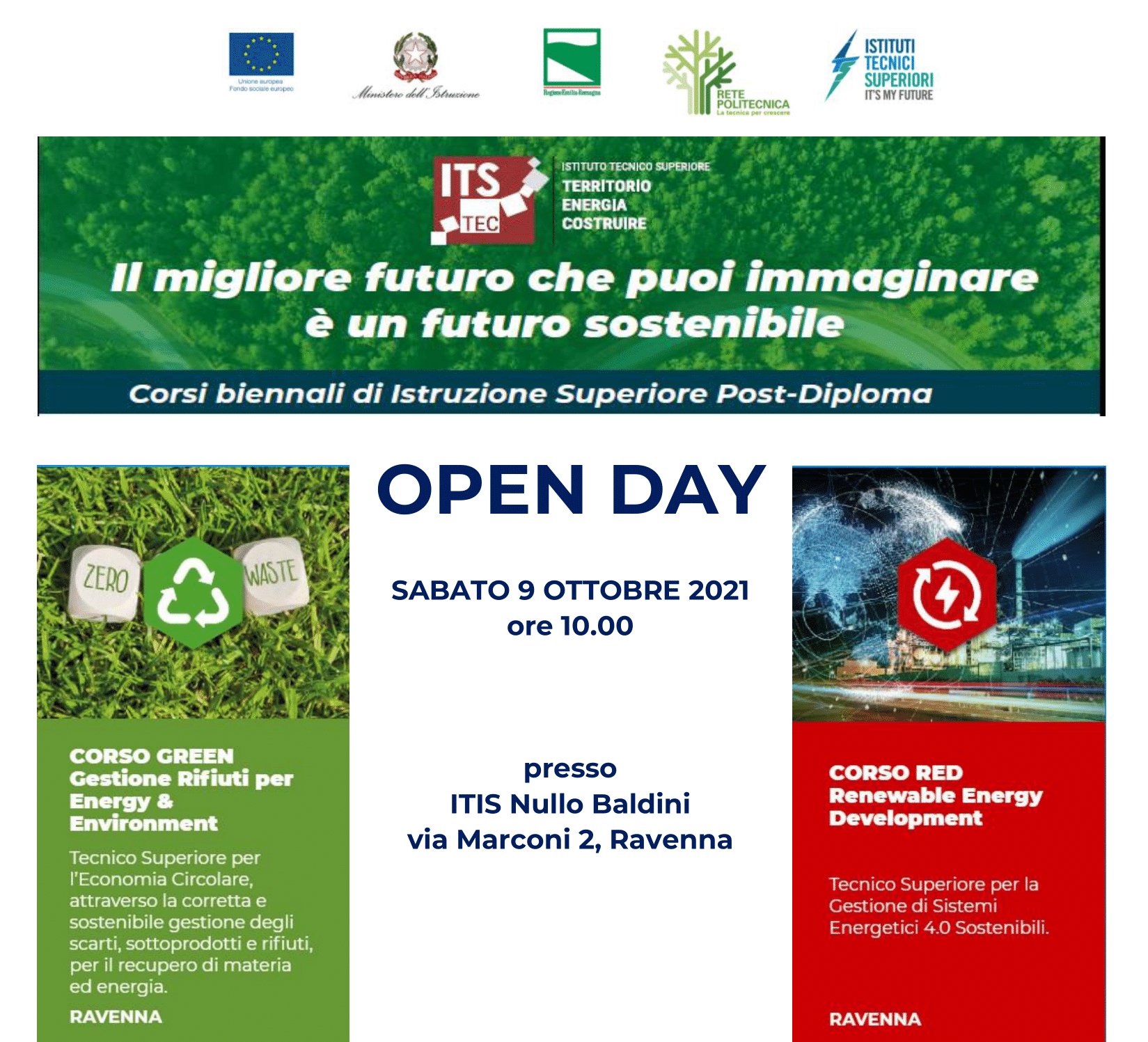 CORSI ITS – OPEN DAY